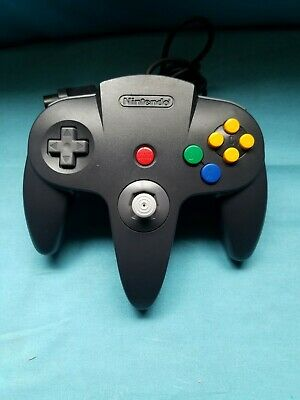 OEM Authentic BLACK Nintendo 64 N64 Controller TIGHT STICK, Very Nice