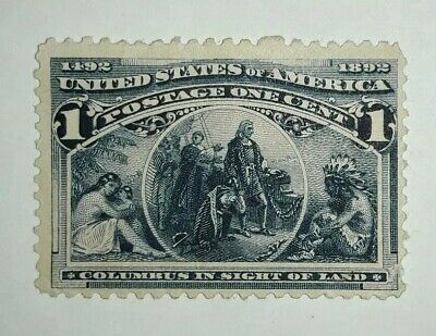 Travelstamps: 1893 US Stamps Scott # 230, In Sight of Land, mint, unused, ng