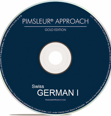 Pimsleur Swiss German I - Gold Edition - 5 CDs - 10 Units - Level One (1)