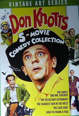 5 DON KNOTTS Comedies RELUCTANT ASTRONAUT LOVE GOD? SHAKIEST GUN Mr CHICKEN FIGG