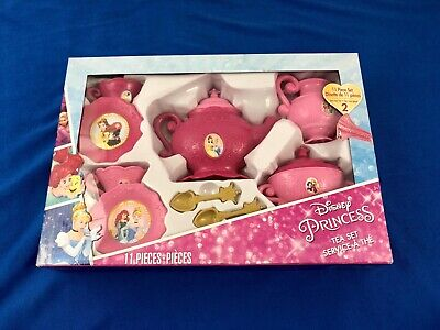 Disney Princess Girls Tea Set 11 Piece Set Service for Two Toy Pretend Play Pink