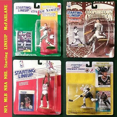 Joe Namath Mickey Mantle Michael Jordan Mario Lemieux  Starting LineUp McFARLANE