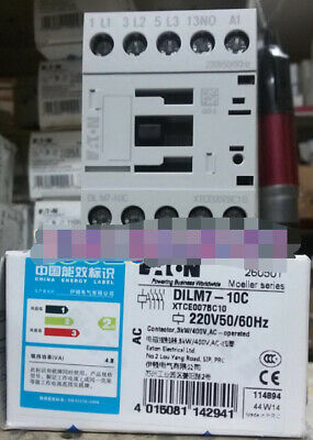 1PC  NEW   EATON  MOELLER   DILM7-10C   220V50/60HZ    free shipping &R1
