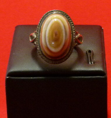 Handmade Hand made Persian Men's Silver 925 Ring with Genuine Yemen Agate