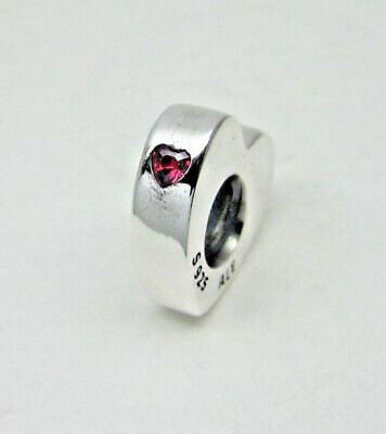 NEW Authentic Pandora TWO HEARTS Spacer 796559CZR Clear CZ Box Valentine's Day