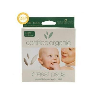 NATURES CHILD 6 Organic Light & Discreet Cotton Breast Pads