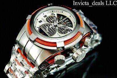 Invicta 52mm Reserve Bolt Zeus Swiss Chronograph Twisted Metal Cage Dial Watch