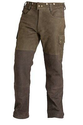 Hunting Shooting Nubuck Leather Trousers