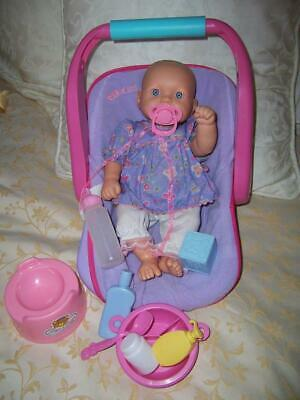 Doll Tinkers Anatomically Correct Drink Wet Outfit Carry Car Basket Dummy Bottle