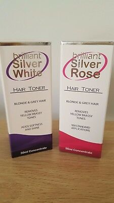 Brilliant(aka Magic)50ml  Silver White and 50ml Rose, Free Postage