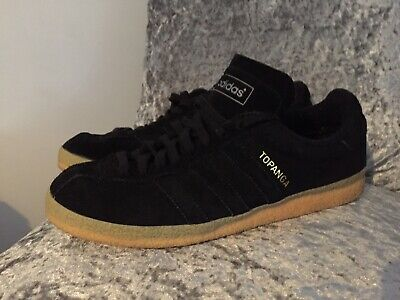 Adidas Originals Topanga Clean Mens Lace Up Trainers Leather Black S80073 U33