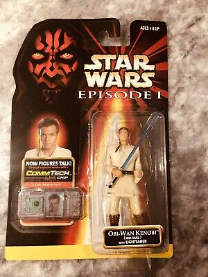 STAR WARS EPISODE 1 OBI WAN KENOBI LIGHTSABER /& COMLINK COLLECTION 1 COMMTECH