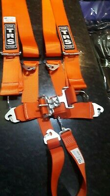 TRS Nascar Autograss Stock Car Race Racing 5 Point Harness - orange SFI APPROVED