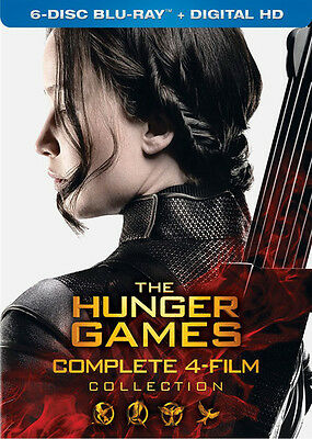 Hunger Games: Complete 4 Film Collection - 6 DISC SET (2016, Blu-ray New)