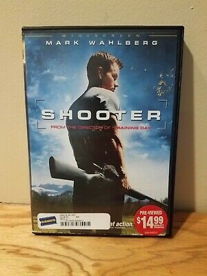 New & Sealed SHOOTER Mark Wahlberg Danny Glover [2007 Widescreen DVD] Fast Ship!