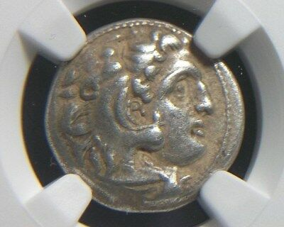 Greek Silver Drachm of Alexander III the Great, 336-323 BC NGC XF   3014