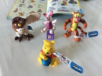 4 Official Bullyland Winnie The Pooh Tigger, Piglet & Owl Figures Rare 2005 Tags