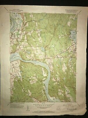 Vintage 1952 USGS Topographical Map of Middle Haddam CT - Unfolded