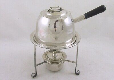 Vintage Antique Brandy Warmer on stand Hukin and Heath Silver Plate
