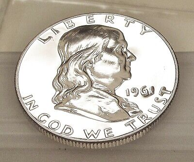 1961  Franklin   Proof   90% Silver >Blazing  Luster<  #305  6