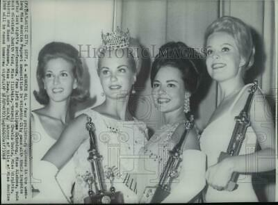1968 Press Photo Four Preliminary Winners of Miss America Pageant - cvw18082