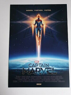 Captain Marvel A4 Poster Odeon