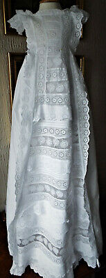 Antique Baby Christening Gown/Roses And Lace