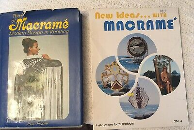 The Art of Macrame Modern Design in Knotting by Joan Fisher & New Ideas Booklet
