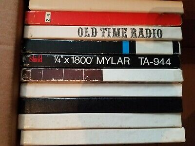 Lot of 10 Old Time Radio Reel to Reel Tapes