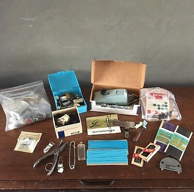 Vintage Mixed Lot Of Sewing Supplies & Accessories Greist Buttonholer