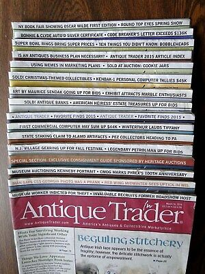 Antique Trader Magazines Special Lot of 16 Heritage Inc Auction Guides 2015 2016