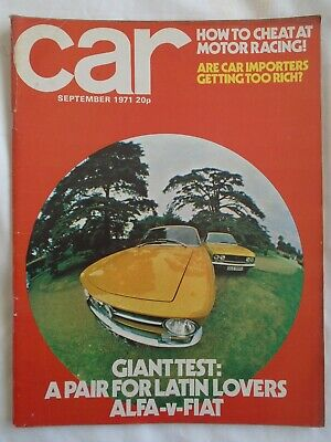 Car Sep 1971 Alfa Romeo GT1300 vs Fiat 124 Coupe 1600