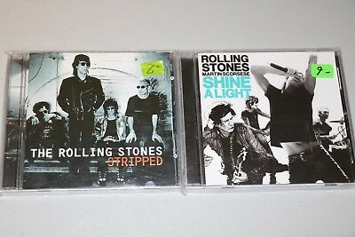 The Rolling Stones 2 CD Lot Shine a Light & Stripped