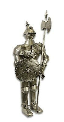 """IRON KNIGHTS SUIT OF ARMOR WITH POLLAXE 138 cm 54.33"""""""
