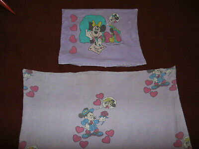 Disney Mickey Minnie Mouse Bettwäsche 90er vintage bedding fabric 90s Micky Maus