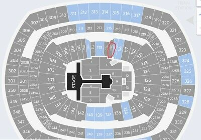 BTS Concert Tickets Metlife Sec 115C Row 20 Seat 6 & 7 for May 19th-Lower Level