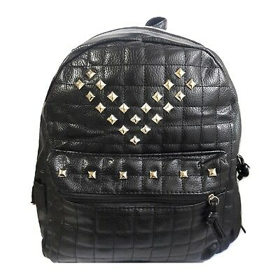 7dd4007dba zaino uomo donna ecopelle nero zainetto borsa backpack borchie oro borsa