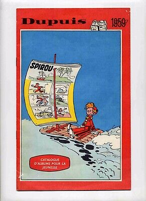 Dupuis catalogue 1959 Couverture de Franquin TBE