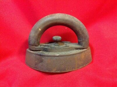 Antique CLOTHES IRON with Handle Enterprise Mfg Co No 50 Philadelphia