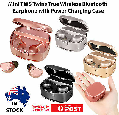 Mini TWS Twins True Wireless Bluetooth Earphone Earbuds Headset - iPhone Android