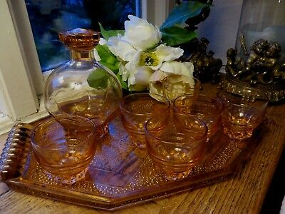 Fabulous French Art Deco Aperitif Set 1930~Tray / Decanter /  6 Glasses Complete