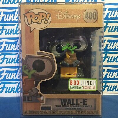 Funko Pop WALL-E Earth Day Box Lunch Exclusive #400 with Pop Protector Pixar NEW