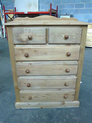 Handmade Solid Pine Ashbridge 4+2 Bedroom Chest Of Drawers Olde Antique Wax