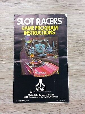 Slot Racers instructions manual for the Atari 2600 Instruction