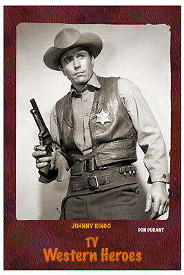 """4""""x6"""" MAGNET PRINT - """"JOHNNY RINGO"""" TV Western Heroes , DON DURANT"""