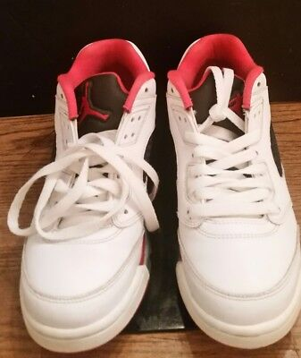 e76f5beff9d7 2016 NIKE AIR Jordan 5 V Retro Low GS Fire Red White Black Size 7Y ...