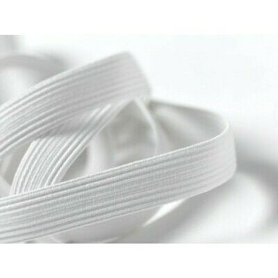 Elastic - Braided - White - 1 Metre X 6mm, 8mm, 12mm, or 20mm – New
