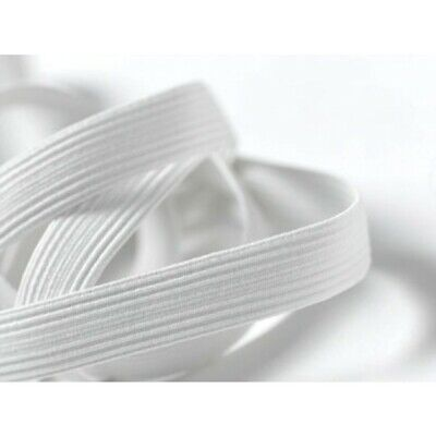 Elastic - Braided - White - 1 Metre X 6Mm 8Mm 12Mm Or 20Mm - New