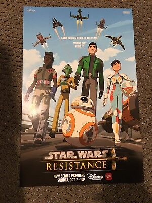 "NYCC 2018 Star Wars Resistance Disney Poster 11"" X 17"""