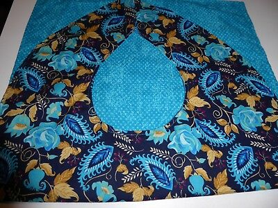 Adult Bibs / cover-ups for adults, seniors, disabled; AQUA, GOLD, BLACK FLORAL